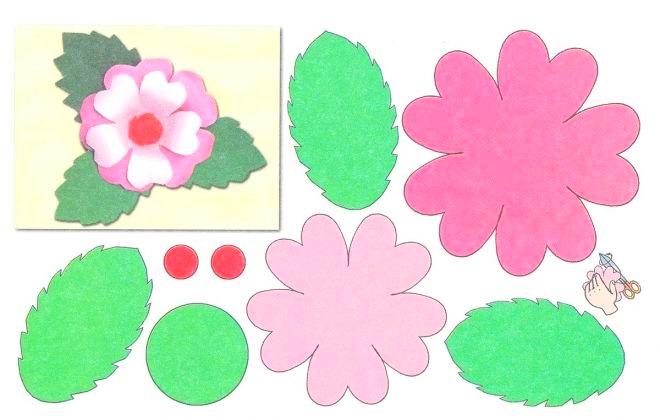 Шаблон цветка из бумаги