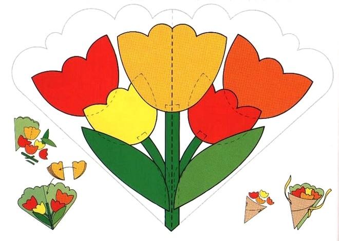 Шаблон тюльпаны