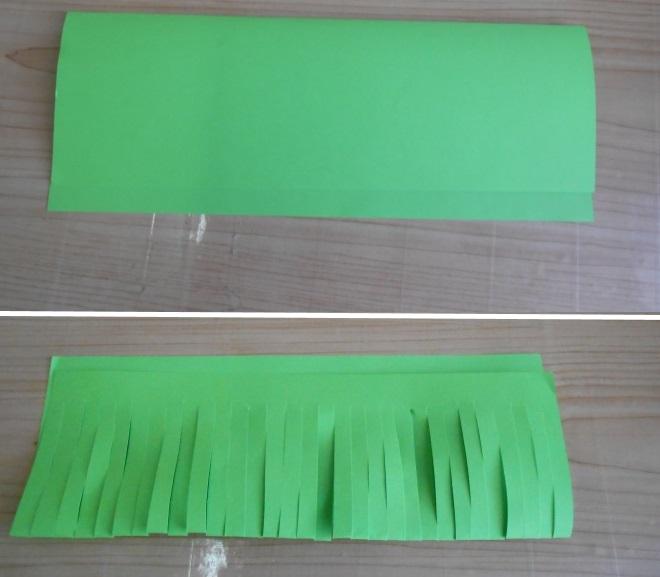 Лист бумаги разрезанный