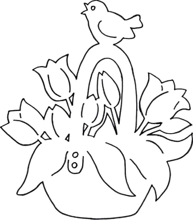 Корзина с цветами шаблон
