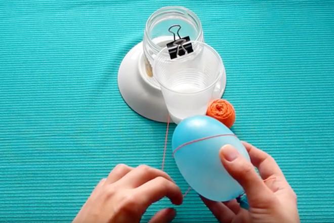Обернуть ниткой шарик