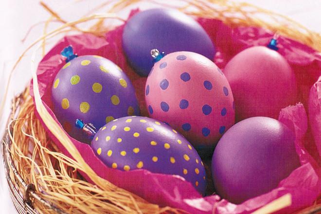 Раскраска яиц на Пасху