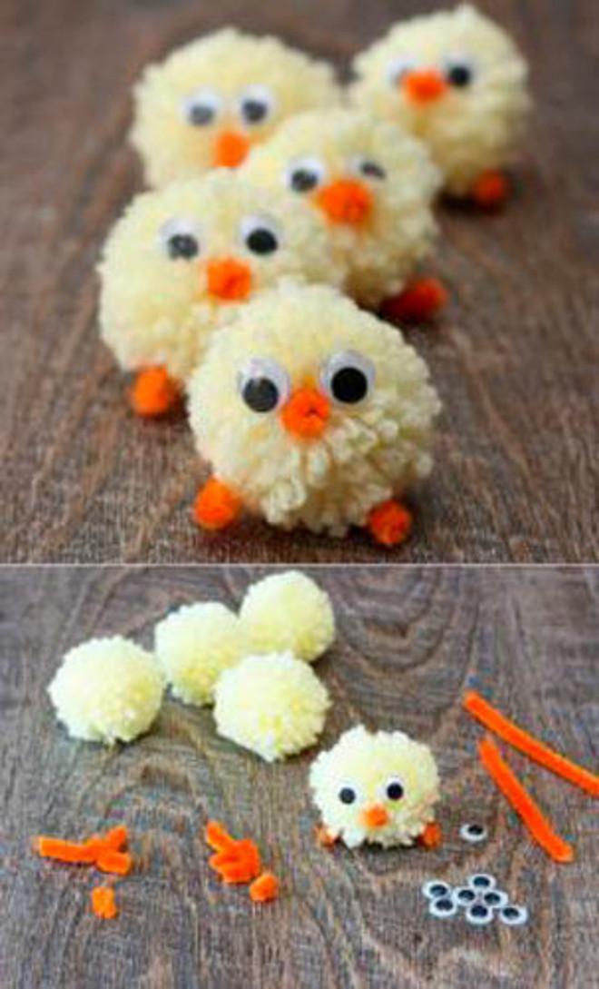 Цыплятки из помпонов