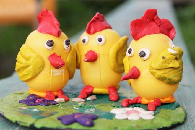 Цыплятки из киндера