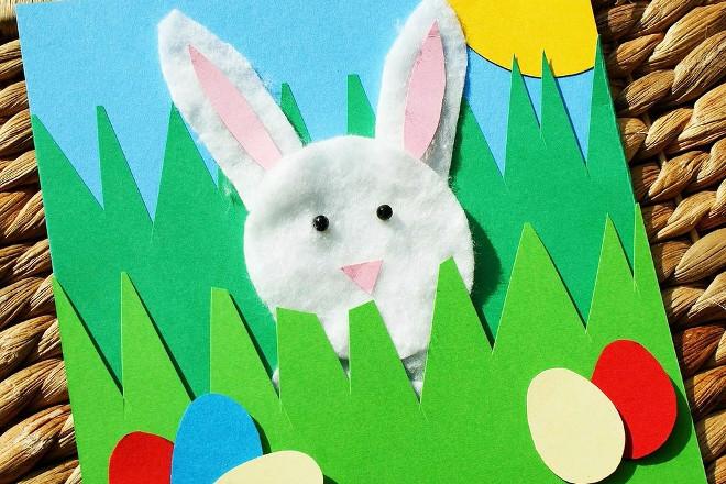 кролик из ватных дисков