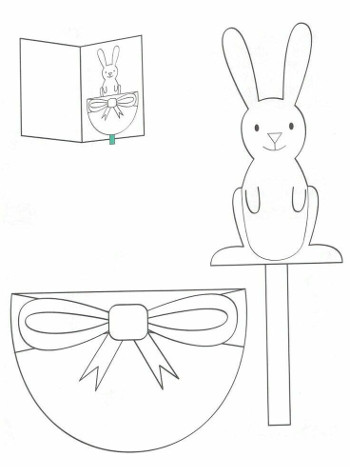 Шаблон для аппликации кролика