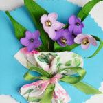 Цветы с бантом