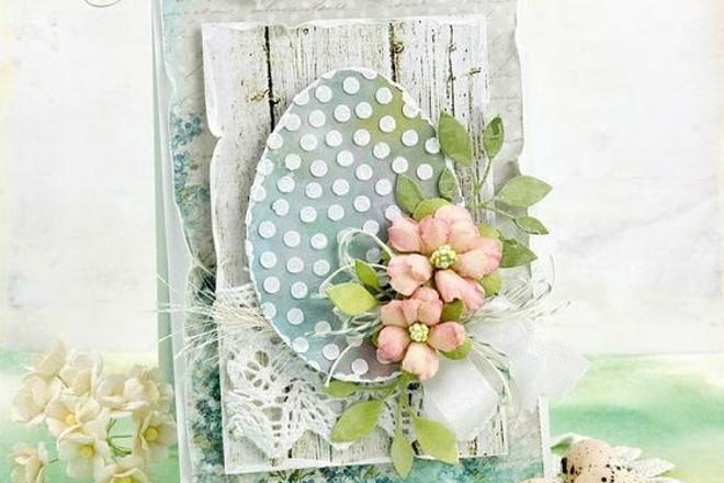 Цветы на яичке