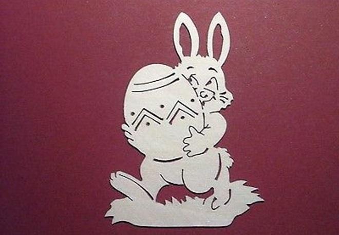Шаблон кролика с яйцом