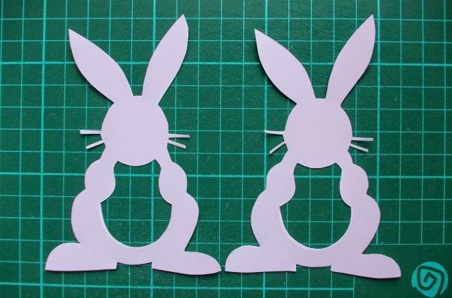 Силуэты кроликов