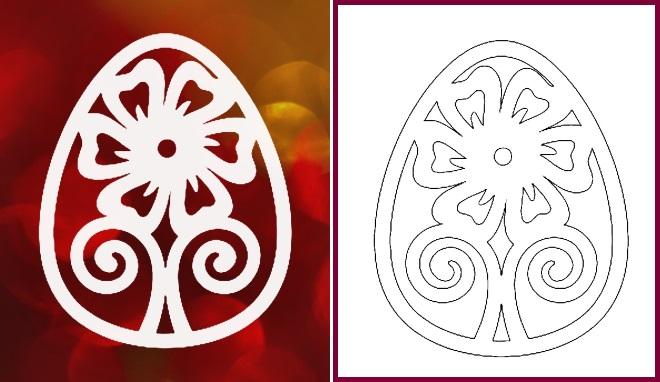 Шаблон яйца пример 3
