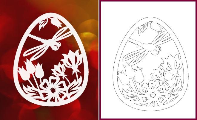 Шаблон яйца пример 5