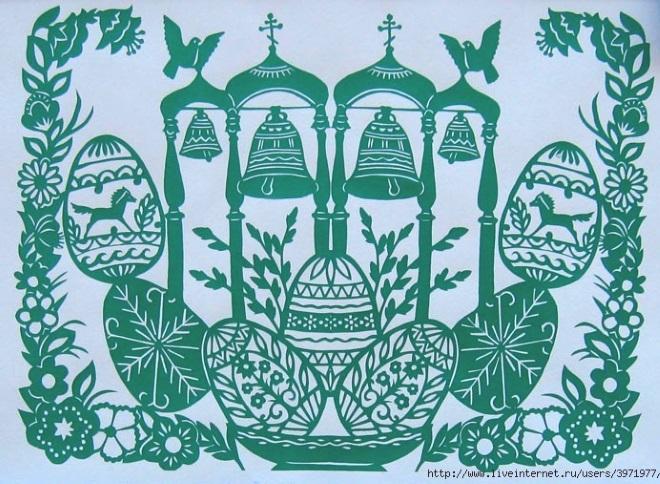 Церковь шаблон на пасху