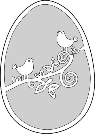 Шаблон яйца 3
