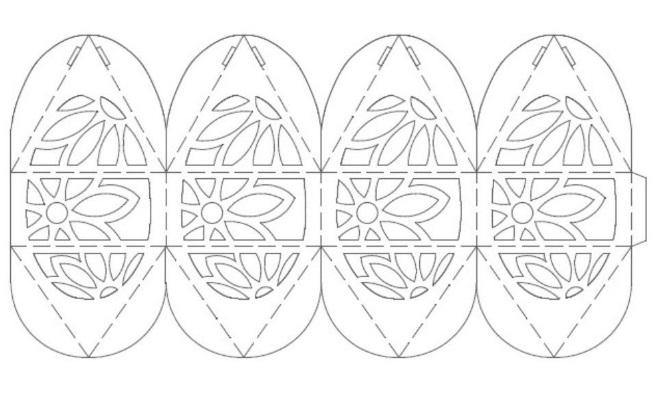 Объемный шаблон яйца 1