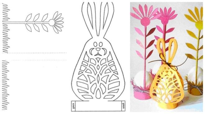 Объемное яйцо в виде кролика