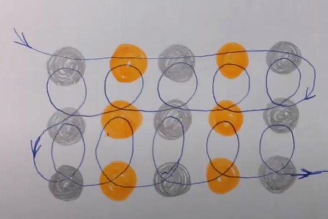Схема плетения бантика