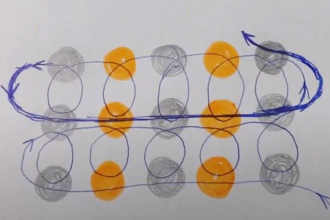 Схема движения нити