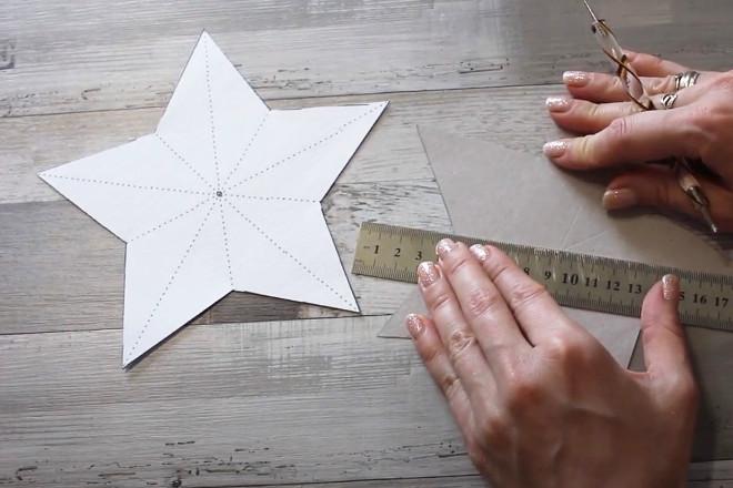 Вырезать звезду из бумаги