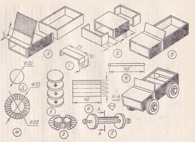 Схема поделки