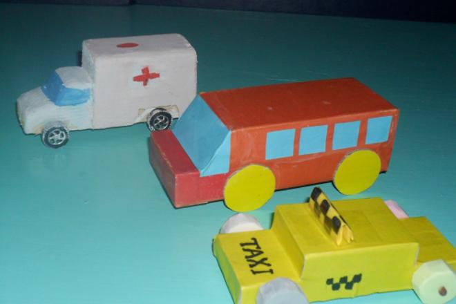 Транспорт из спичечных коробков