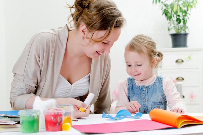 Аппликация с ребенком