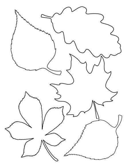 Трафарет листьев из бумаги