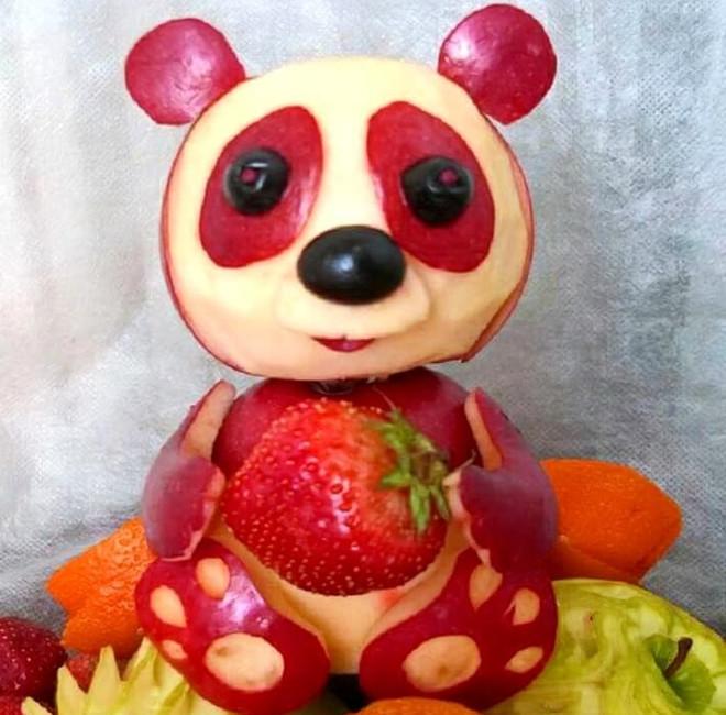 Мишка из яблока