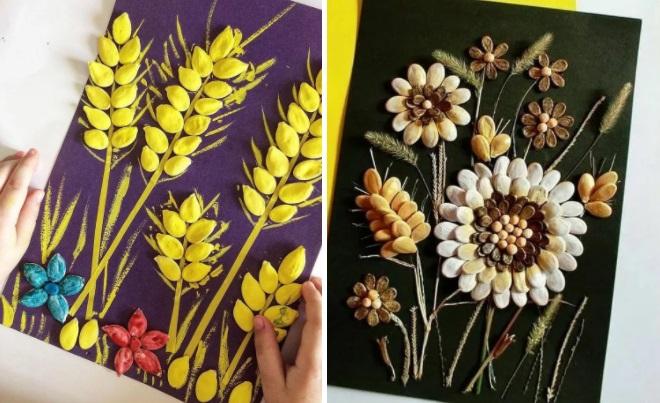 Композиции из тыквенных семечек