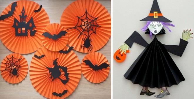 Бумажные поделки на хэллоуин