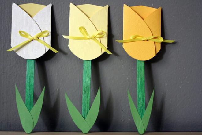 Тюльпан из бумаги