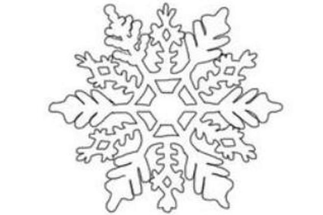 Трафарет снежинки 1