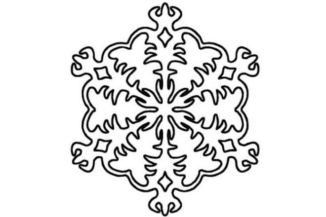 Трафарет снежинки 2