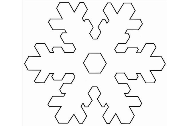 Трафарет снежинки 6