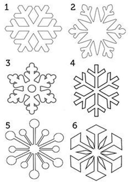 Трафарет снежинки 10