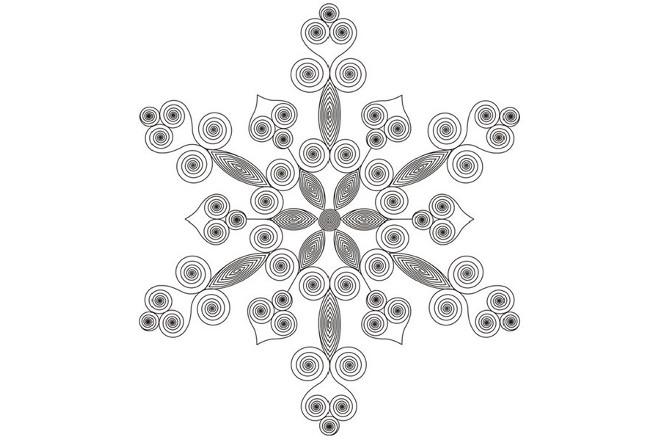 Снежинка 1 квиллинг