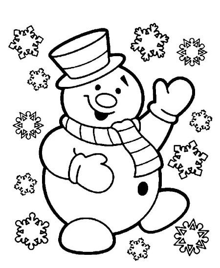 Шаблон Снеговик 2