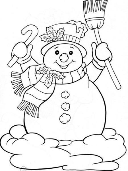 Шаблон Снеговик 4