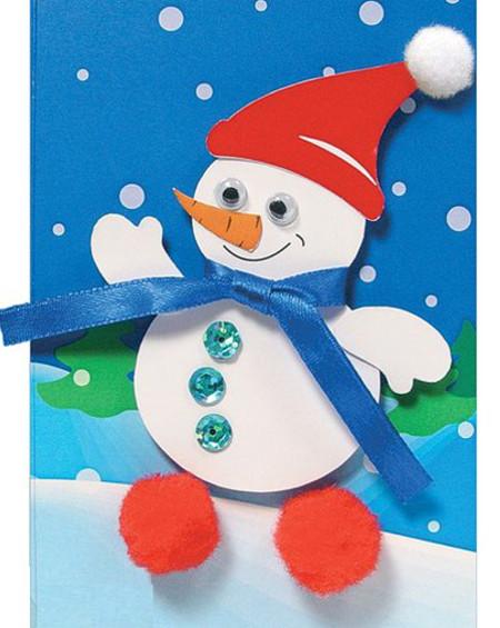 Открытка Снеговик