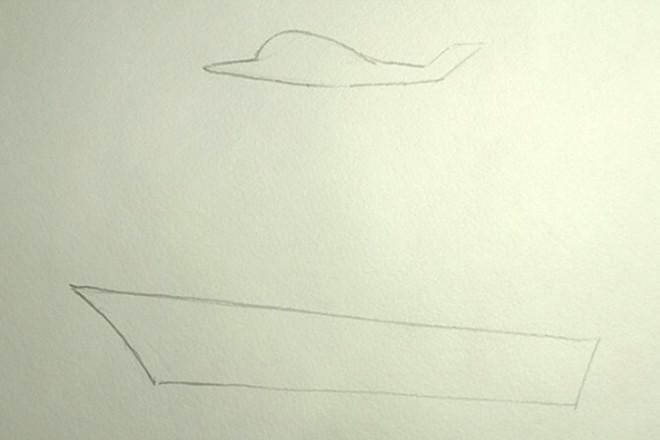 Контуры самолета