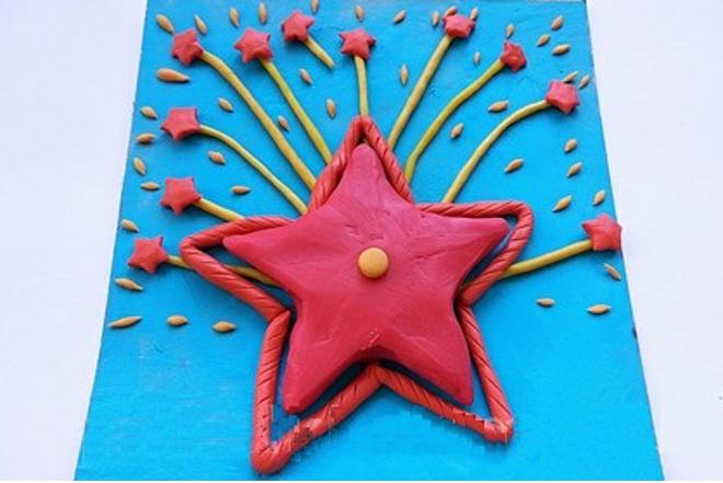 Звезда из пластилина
