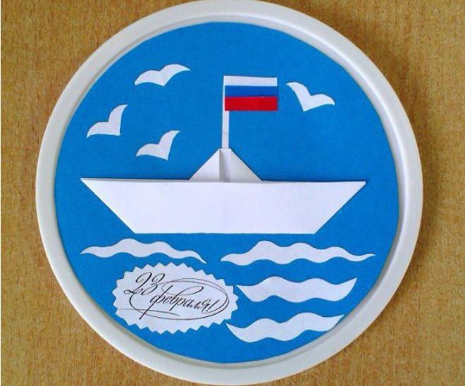 Кораблик на тарелке
