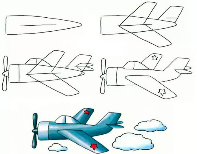 Рисунок военного самолета