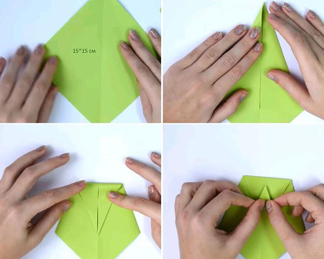 Сгибание бумаги для рубашки