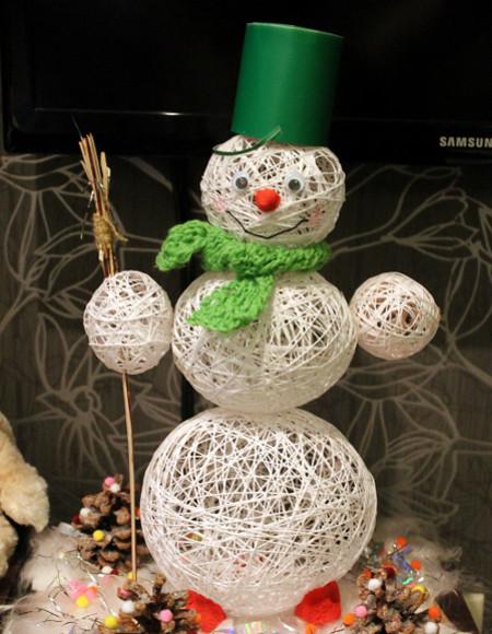 Снеговик в шарфике
