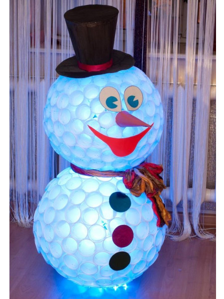 Снеговик с подсветкой
