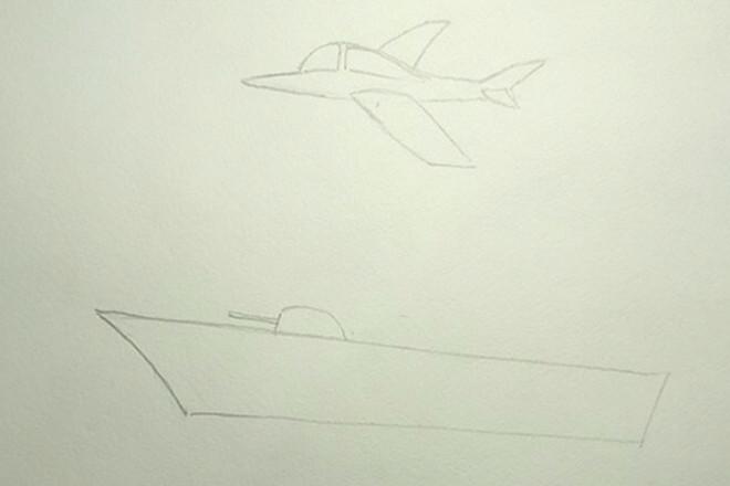 Контур крыльев самолета