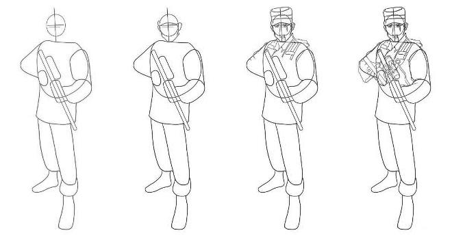 Рисунок солдатов