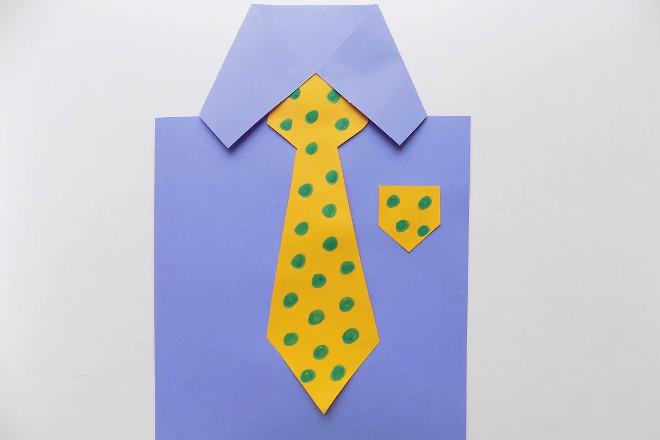 Открытка-рубашка с галстуком