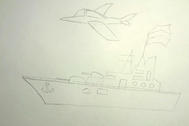 Контуры корабля